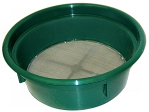 "Picture of 14"" Diameter sieve with deep sides 4 mesh ( 1/4inch)"